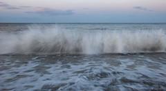 228 Newcastle 110814 wide (Philip D Ryan) Tags: ireland sunset twilight surf eveninglight breakingwave newcastlebeach irishsea countywicklow