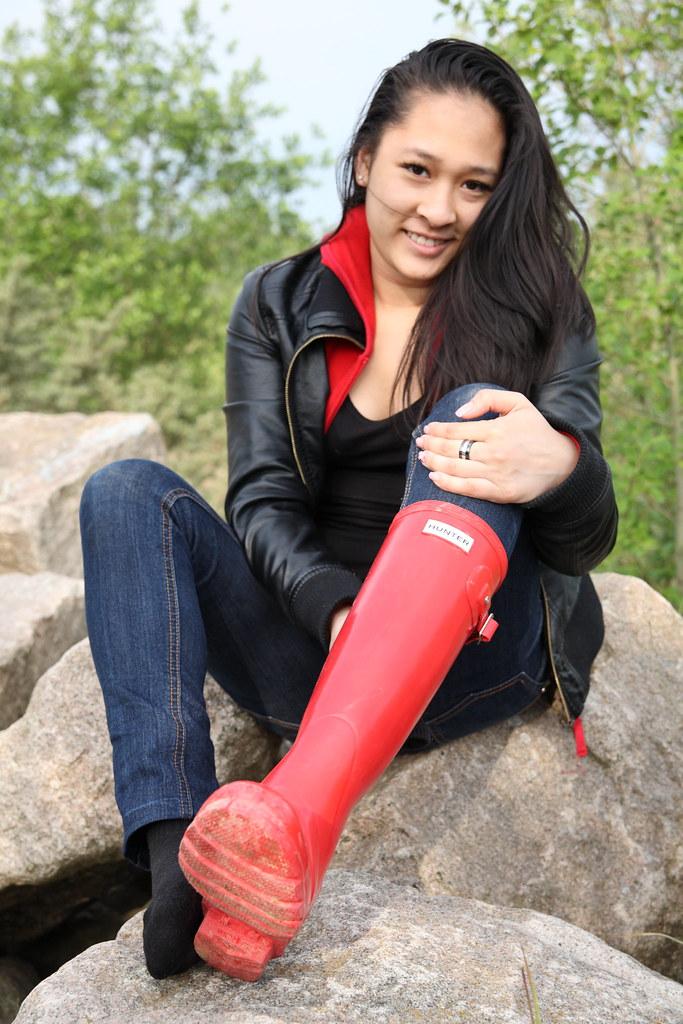 Fetish in sock woman