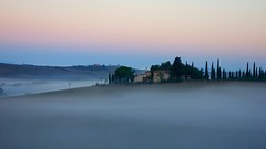 Belsedere, Tuscany, Italy (posterboy2007) Tags: trees italy fog landscape sony winery tuscany villa rx100 belsedere