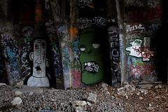 Tunnel street-art (1/2) (WacsiM) Tags: streetart paris art canon eos belt ledefrance 1855mm 75 petite ceinture couronne 550d