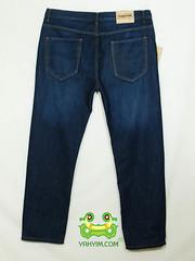 กางเกงยีนส์ขากระบอกเล็กผู้ชายอ้วนบิ๊กไซส์สีบลู  JNLY 004 หลัง