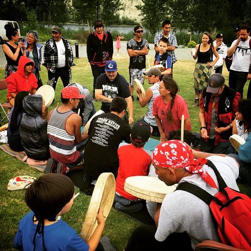Hand games at Kwanlin Dün Cultural Centre for #Aboriginal Day #yxy #yukon #canada