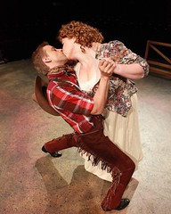 """Michael Jablonski as Will Fry and Heather Jane Rolff as Ado Annie in the 2010 Music Circus production of """"Oklahoma!"""" at the Wells Fargo Pavilion July 27-August 1.  Phot by Charr Crail."""