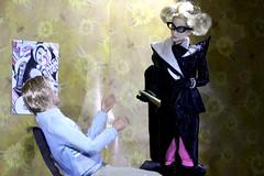 Paprihaven 0667 (MayorPaprika) Tags: set office lola ken barbie story 16 custom mattel harleyquinn triad fashionistas psychiatrist drharleenquinzel canoneos50d