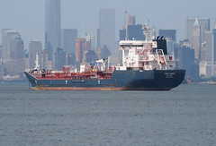 KIRKEHOLMEN in New York, USA. June, 2015 (Tom Turner - SeaTeamImages / AirTeamImages) Tags: nyc usa newyork water skyline port bay harbor marine ship unitedstates harbour manhattan transport anchorage pony maritime transportation anchor statenisland bigapple tanker waterway stapleton tomturner kirkeholmen
