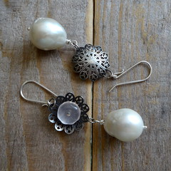 Rose Window Pearls (kosmimata) Tags: window rose pearls kosmimata sophiageorgiopoulou etsycomshopkosmimata wwwkosmimatacom