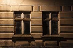 Two windows ...  closed down forever (Lichtbursche) Tags: architektur fenster geheimnisvollefenster hdr haus house nacht spiderweb spinnengewebe alt architecture night old two verlassenerort window zwei loitz mecklenburgvorpommern deutschland de