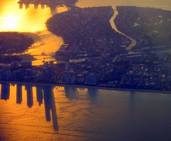 Miami's five o'clock shadow (oobwoodman) Tags: usa florida miamibeach atlanticheights normandyisland northbayvillage normandyshoresgolfclub aerial aerien luftaufnahme luftphoto luftbild zrhmia shadows schatten ombre atlantic atlantik atlantique skyscrapers wolkenkratzer gratteciel sunset sundown couchedesoleil sonnenuntergang