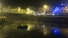 Light, Fog, Inaction (Katie_Russell) Tags: portrush coantrim countyantrim ni ireland nireland northernireland norniron fog foggy mist misty harbour boat boats ship ships ramore light lights dark night nighttime reflect reflects reflection reflections reflected