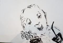 Wären wir zuhaus geblieben (raumoberbayern) Tags: sketchbook painting acrylic acryl portrait