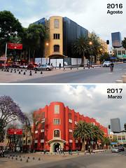Frontón México antes y después (laap mx) Tags: mexico mexicocity ciudaddemexico arquitectura architecture fronton jaialai artdeco antesydespues thennow