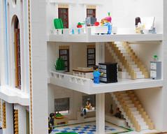 Astrid and Associates Architecture firm (snaillad) Tags: lego moc town city architecture art deco artdeco firm modern 1920s 1930s balcony modular corner