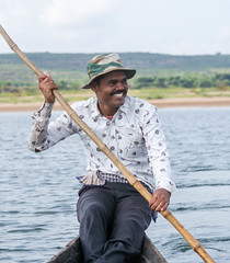 Happy (asheshr) Tags: happy boatman boatride boating portrait