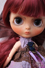 OOAK Art Doll Amethyst From BlytheBurst
