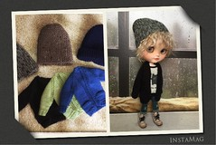 New stuff in my etsy store .. Blythe boy beanie and cardigan oversized set . Link in the description ...