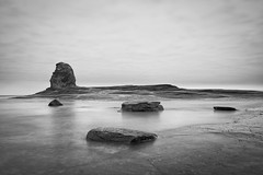 Nab at Saltwick (Redboxwriting) Tags: saltwick bay seascape mono black white landscape yorkshire coast minimal