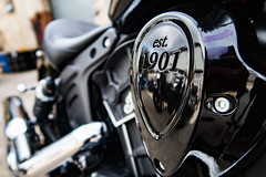 Indian Scout (DoMoreB) Tags: indian scout motorcycle bike nyc 1901 new york canon g7x black