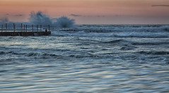 Incoming (tara.bowen) Tags: monavale sydney sunrise morning waves tidalpool rockpool rocks beach