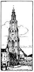 Haagse Post 1922- Anton Pieck.torens-  Martinitoren Groningen (janwillemsen) Tags: antonpieck magazineillustration 1922 haagsepost towers