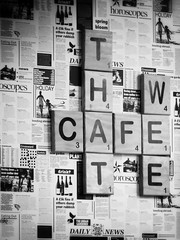 That Wee Cafe (Bessy Bumblebee) Tags: popup cafe crisp butties belfast northern ireland wee black white monocrome
