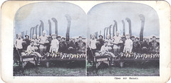 WWI stereogram: Open air bakery (John Kroll) Tags: wwi worldwari soldiers handcolored stereograph troops stereopticon stereoscope