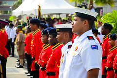Young Cadets (philipp.richter) Tags: birthday blue boy sky people me colors festival 35mm photography islands photo nikon uniform call flickr day colours photographer dof please time young police carribean grand parade dude explore queens scouts british cayman 18 richter philipp edit bold overseas territory lightroom hollar stricking 18f exlore nikond5100