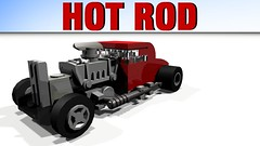 Hot Rod (hajdekr) Tags: hot car automobile lego hotrod vehicle rod sportscar ldd legodigitaldesigner legotoyline