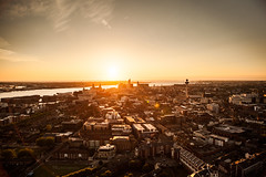 Liverpool At Sunset (Niall97) Tags: city uk sunset summer england urban building beautiful beauty skyline liverpool canon eos golden warm cathedral wide hour l beatles 5d fullframe lennon liver f28 markii 70200mm merseyside the 2470mm scouse