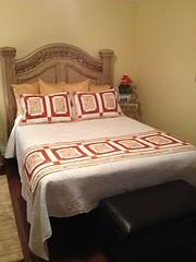 Denise's bed runner & shams