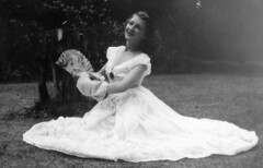 FAN DANCE (JOHN MORGAN .) Tags: ballet vintage found photo interesting different dancing unusual