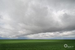 The beam that smiles the couds away (Oape) Tags: sky holland netherlands dutch clouds landscape scenery flat outdoor thenetherlands beam land groningen oldambt