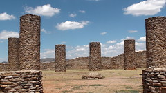Pillars at La Quemada