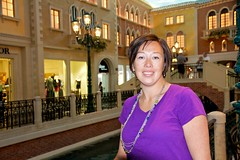 In the Grand Canal Shoppes (Michael Bentley) Tags: vacation portrait lasvegas nevada venetian erica thestrip canonefs1585mmf3556isusm