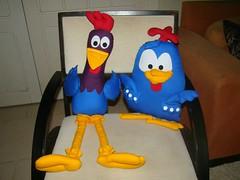 Galinha Pintadinha e Galo Carij (Pina & Ju) Tags: galinha arte artesanato fuxico patchwork galo carij pop pintadinha patchaplique