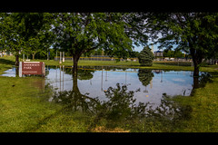 Flooded (rg69olds) Tags: reflection water canon nebraska flood millard omaha baseballfield canondigitalcamera flickritis canonef24105mmf4lisusm canoneos6d 06212014