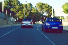 Subaru Impreza - Mitsubishi Evo9 (AcheerrePhoto) Tags: evolution subaru impreza sti mitsubishi evo subaruimpreza evo9 lancerevo lanevo subaruimprezasti