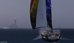 sailing (Sannita_Cortes) Tags: ocean cruise sea nature sailboat sailing sl secondlife blacksea opensea