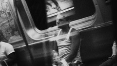 (tsering.phurpu) Tags: blackandwhite newyork train moments queens walker dreams mta everyday shadesofgrey solitary commune dreamer wanderer metrolife wonderer lifeinnewyork surrealvsreal