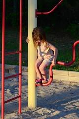 Rose at the Playground (Vegan Butterfly) Tags: park cute beach girl playground kid vegan child sandy adorable
