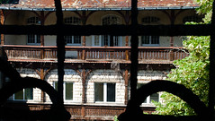 Window-to-the-backyard (maiktheknife) Tags: old hospital balkon ruin leipzig ruine clinic holz sonne balcon baum alte psychatrie parkkrankenhaus