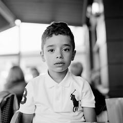 Face (Olivier David) Tags: blackandwhite bw 120 6x6 film square kid kodak 400tx d76 analogphotography f28 80mm trix400 bronicasqa shootingfilm