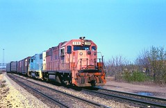 DT&I #208 (rrradioman) Tags: blue white tower rock island bend bell south arnold may indiana 1981 gt gtw 208 dti