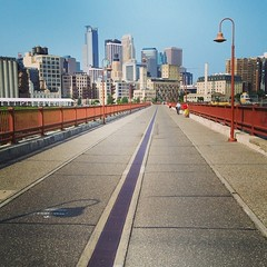 Photo (Witty Girl) Tags: bridge walking outside downtown walk july minneapolis 2014 stonearchbridge instagram ifttt