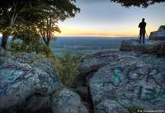 Shooting the setting sun at High Rock (PhotosToArtByMike) Tags: sunset graffiti md rocks scenic maryland panoramic overlook appalachiantrail waynesboro ledges highrock washingtoncountymaryland cascademaryland