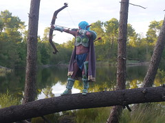 Shooting Huntress - World of Warcraft - 2014-08-07- P1900707 (styeb) Tags: shooting shoot hostens 2014 aout 07 lac water landes huntress world warcraft wow blizzard cosplay