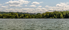 Cornell Campus from Cayuga Lake (LJS74) Tags: panorama cornell ithaca fingerlakes cayugalake stewartpark