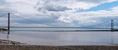 Humber Bridge (stevefge) Tags: uk panorama reflections hull humberbridge humber foreshore eastyorkshire hessle