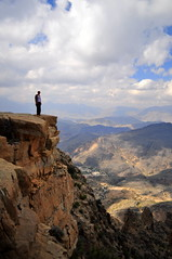 The view (charlottehbest) Tags: mountains clouds scenery view sunny gorge oman epic steff precarious 2014 charlottehbest