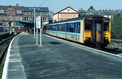1992-04-10 150251 (1534 Penarth)  Merthyr Tydfil (John Carter 1962) Tags: southwales br rail trains railways britishrail dmu class150