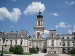 beauty of architecture (VERUSHKA4) Tags: park roof summer sky cloud building art window beautiful grass architecture canon bush europe hungary day view july historic decor vue verdure keszthely